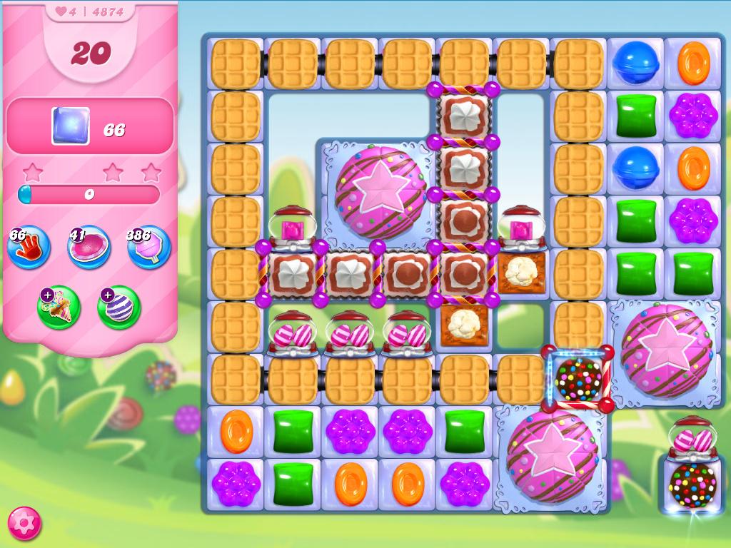 Candy Crush Saga level 4874