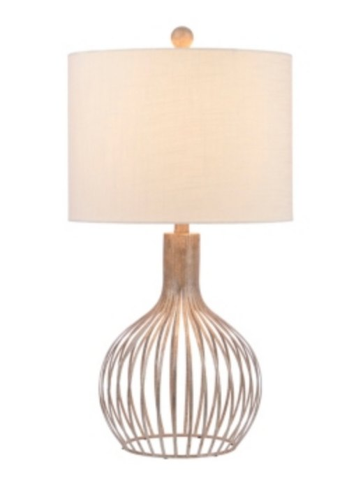 Pennington Silver Cage Table Lamp   Kirklands