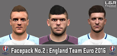 PES 2016 Facepack No.2 (England Team Euro 2016) By L.G.R Facemaker
