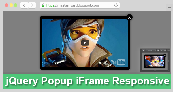 jQuery Popup iFrame Video Responsive