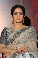 Sri Devi in designer saree stunning beauty at the launch of MOM movie Trailer~  Exclusive 038.JPG