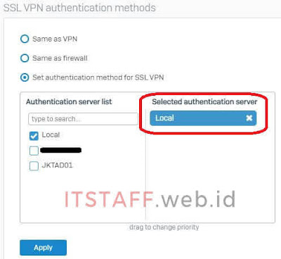 SSL VPN Authentication Services - ITSTAFF.web.id
