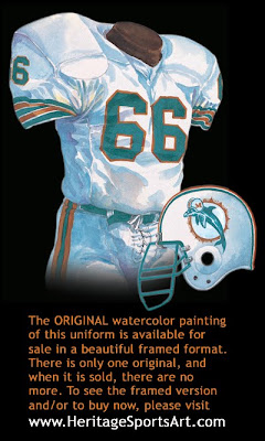 Miami Dolphins 1984 uniform