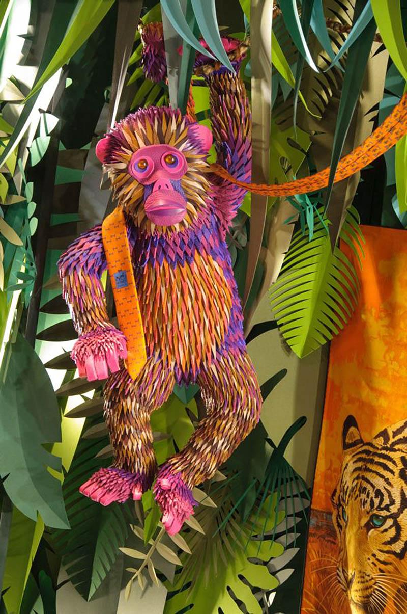 hermes jungle window display