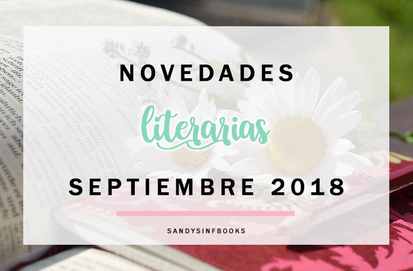novedades literarias libros septiembre 2018