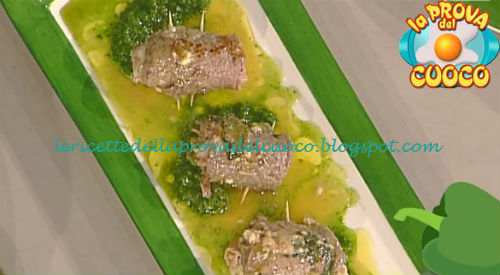 Involtini di scamone e prosciutto su crema di lattuga ricetta Salvatori da Prova del Cuoco