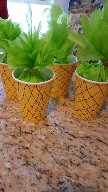 Lembrancinha Copo Abacaxi Moana para Festa Infantil