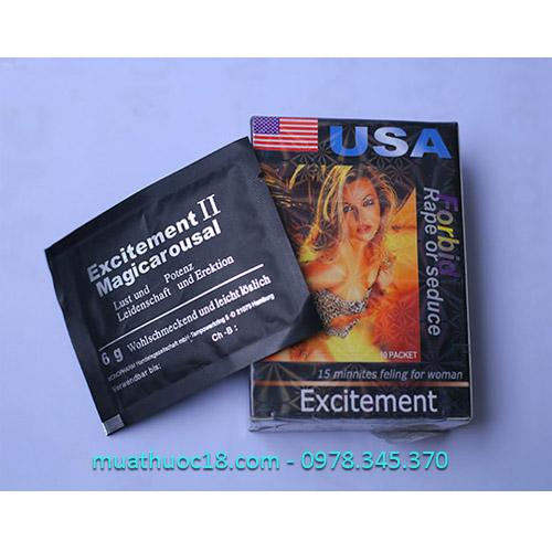 thuốc kích dục nữ dạng bột exciterment ii