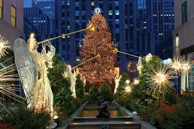 New york rockefeller center christmas tree