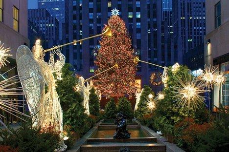 New york rockefeller center christmas tree