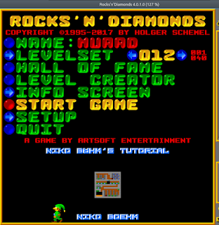 Rocks'n'Diamonds main menu