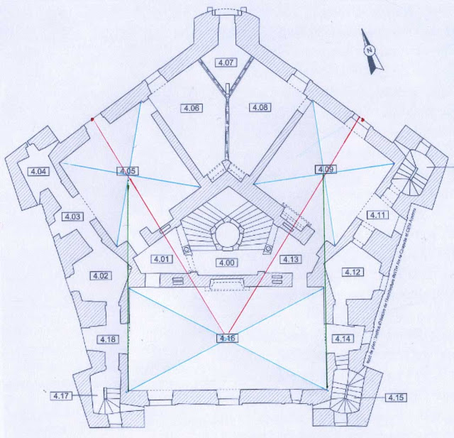 Plan du château de Maulnes.