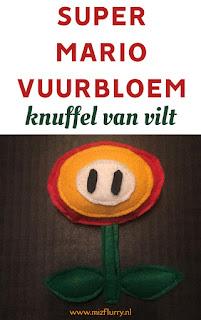 Super Mario Vuurbloem knuffel
