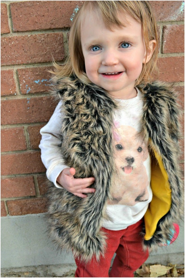 Sewing for the Girl: Faux Fur Vest