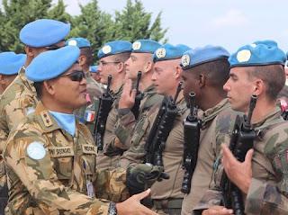 Foto: Satgas Indobatt dan Prancis dalam latihan bersama (Dok. Puspen TNI)