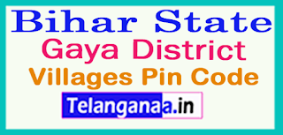 Gaya District Pin Codes in Bihar State