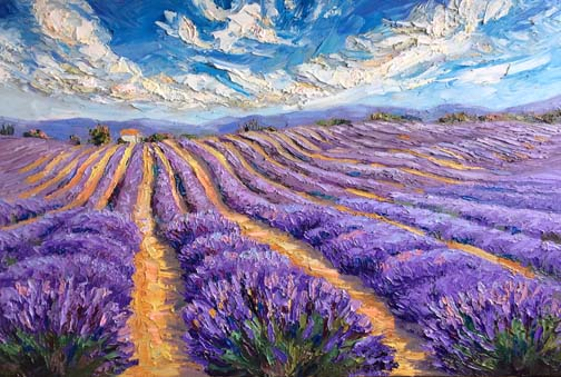 Lavender Oil Painting
