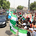 PHOTOS: Thousands Of Supporters Welcome Buhari To Bauchi
