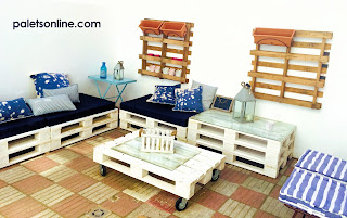 Chill out de europalet color blanco Paletsonline.com