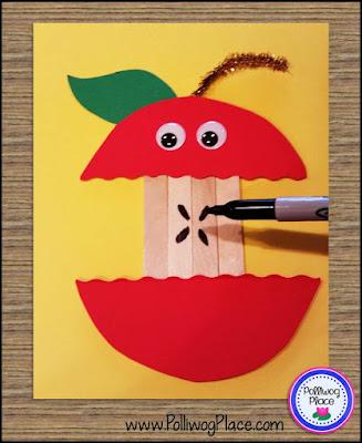 Apple Craft: Craft Stick Apple  - Step 2