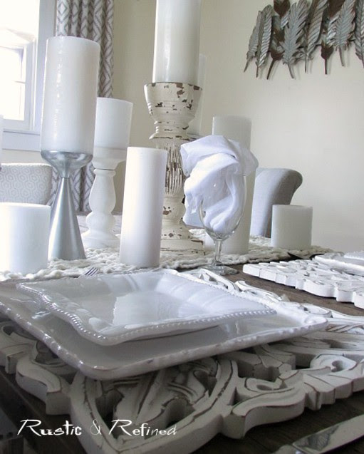 Best Tablescape Ideas using all white for a timeless look