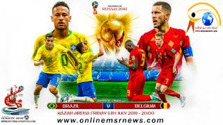 موعد وتوقيت مباراة البرازيل وبلجيكا دور ال8 كاس العالم 2018 و القنوات الناقلة