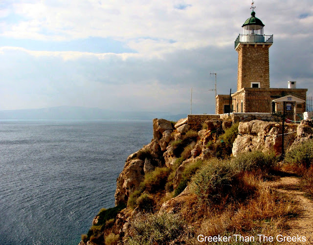 Malagavi Lighthouse Cape Malagavi Loutraki Greece