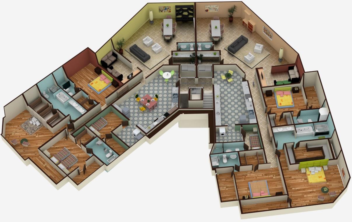 Planos de casas modernas good plano casa m with planos de - Planos casas modernas ...