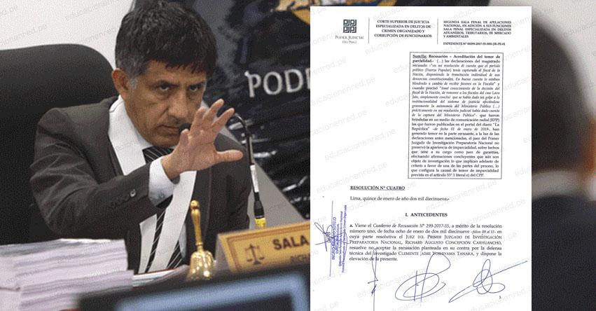 DURO GOLPE A LA LUCHA ANTICORRUPCIÓN: Apartan a juez Richard Concepción Carhuancho del caso cócteles (Keiko Fujimori)