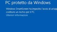 Disattivare blocco file exe di Windows Smartscreen