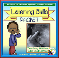 Listening Skills Character Education - Social Skills Teaching Packet