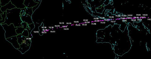 simulação da trajetória e queda do asteroide de 02 de junho de 2018