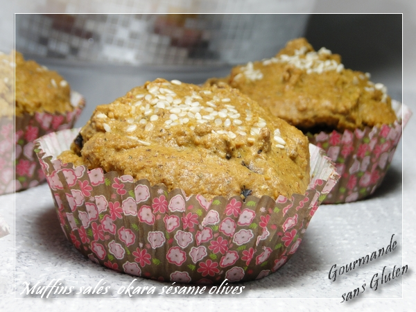 Muffins sallés à l'okara d'amandes et à la crème de sésame