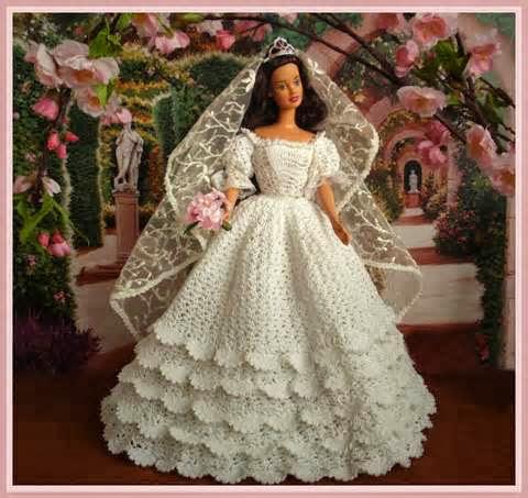 Vestidos de noiva para Barbie - Bridal dresses for barbie dolls - Para inspirar nossas criações 12