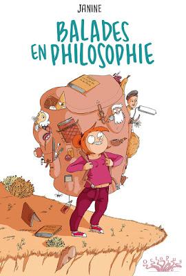 """couverture de """"Balades en Philosophie"""" de Janine chez Delcourt"""