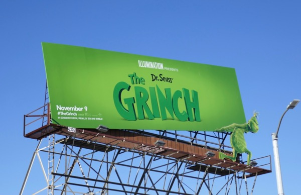 Grinch special lifting billboard