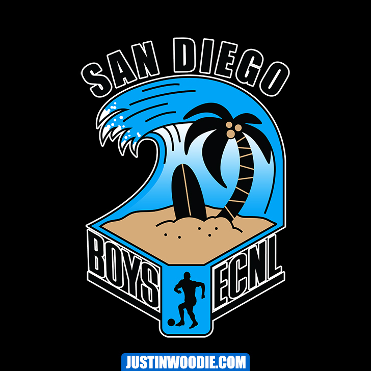 Boys ECNL San Diego Graphic Logo Design
