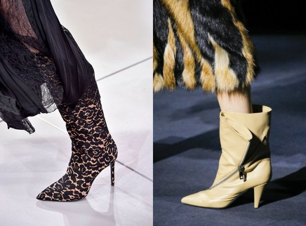 Fall-Winter 2018-2019 Women's Pointed Toe Boots Fashion Trends
