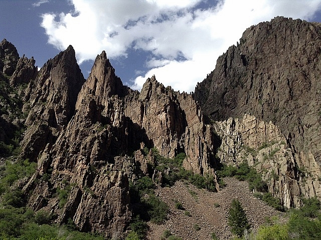Magnificent Rocky Cliff at Black Canyon Of Gunnison National Park
