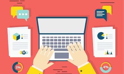 Memberikan komentar di blog atau media sosial