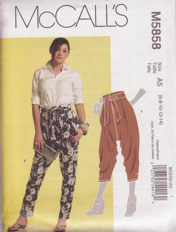 harem pants template - etcetorize harem pants