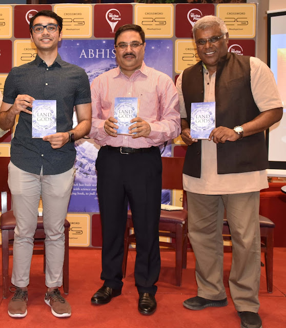 "Actor Ashish Vidyarthi & Author Ravi Subramanian  launch second book ""Land of the Gods"" by Teen author Abhishek Roy at Crossword Bookstores"