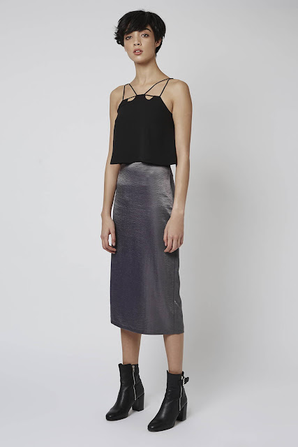 grey satin skirt, topshop satin midi skirt,