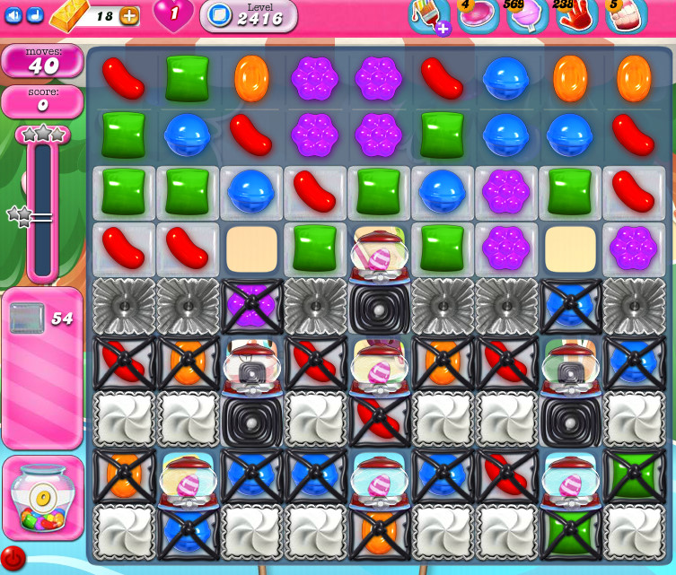Candy Crush Saga level 2416