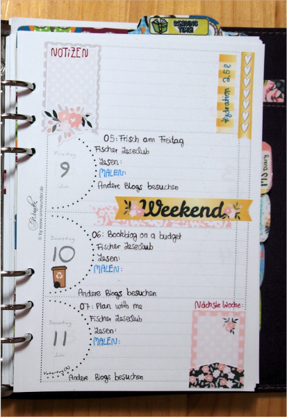 Plan with me: Donnerstag bis Sonntag
