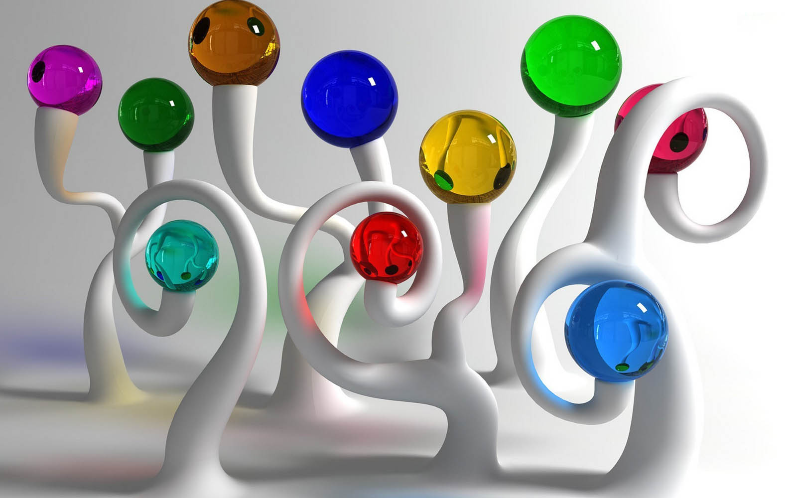 wallpapers: Glass Balls Wallpapers