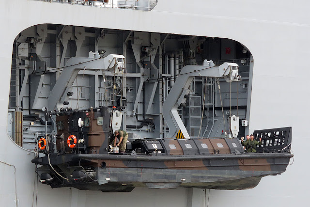 Royal Navy's amphibious assault ship HMS Ocean (L12), port of Livorno