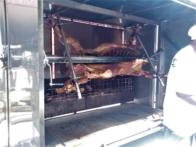 Grilovanie neposlušných býkov na námestí