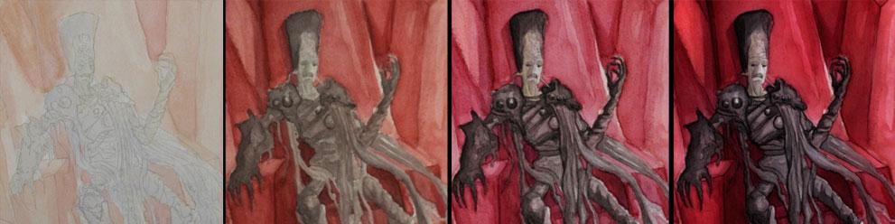 Illustrator Dannie Borg Evil M