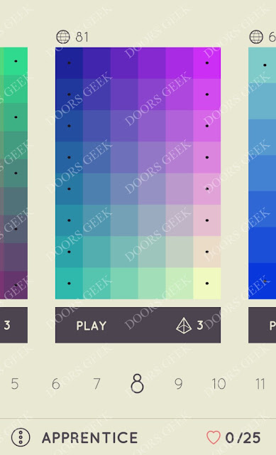 I Love Hue Apprentice Level 8 Solution, Cheats, Walkthrough
